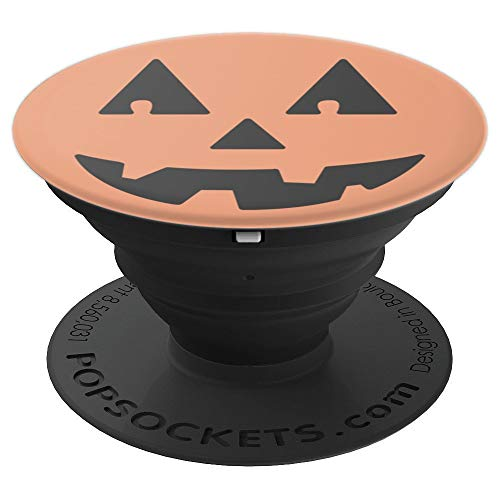 Halloween Simple Smiley Jack-o'-lantern - PopSockets Grip and