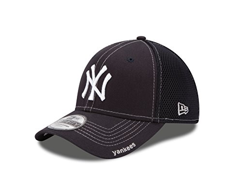 MLB New York Yankees Neo Fitted Baseball Cap, Navy, Medium/Large ()