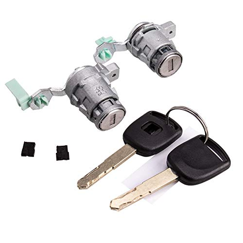 Door Lock Cylinder Front Set Fits Honda 98-02 Accord, 01-05 Civic, 99-04 Odyssey, 00-09 S2000, (Left & Right) 72185-S9A-013