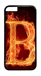 Fire letter B PC Case Cover for iphone 6 4.7inch - Black