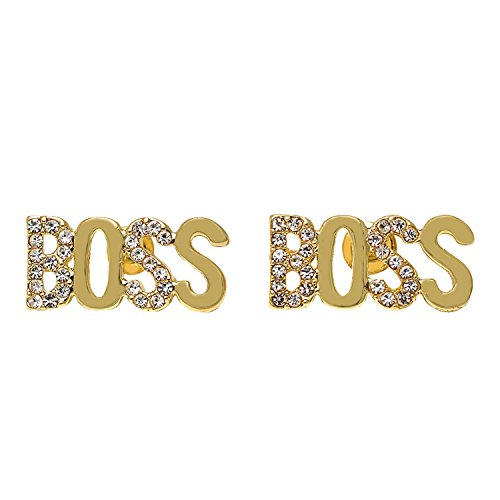 Yellow Gold-Tone Iced Out Hip Hop Bling Cubic-Zirconia (CZ)