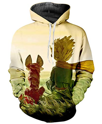 Ideasuke Original Anime Prince Costume Hoodie The Little Prince Print 3D Pullovers Sweatshirt -