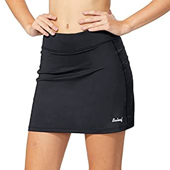 BALEAF (X-Small, Black) Women's Active Athletic Skort Lightweight Skirt with Pockets for Running Tennis Golf Workout