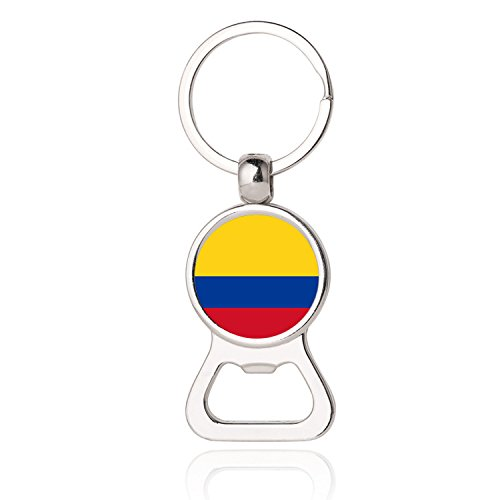 The Republic Of Colombia National Flag Photo Printing Bottle Opener Keychain Colombia National Flag Photo Dome Bottle Opener Photo Dome Jewelry Gift Bottle Opener Key Chain Promotional Items