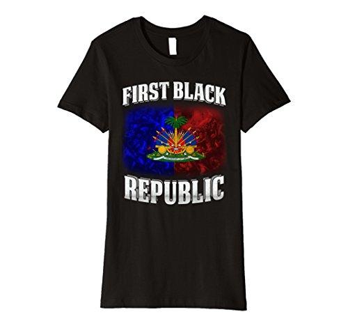 Womens Republic D'haiti First Black Nation coat of arm emblem flag Large (Haiti Coat)