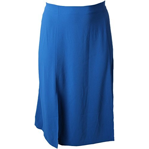 Lauren Ralph Lauren Plus Size Crepe A-Line Slit Skirt (20W)