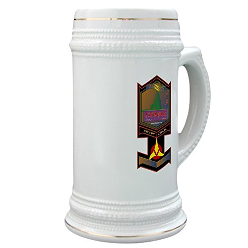 CafePress - Klingon Bloodwine - Beer Stein, 22 oz. Ceramic Beer Mug with Gold Trim