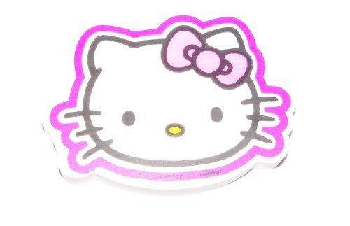 (Hello Kitty Jumbo Shaped Eraser ~ Cute Kitty Face with Purple Outline (1 Eraser; 3