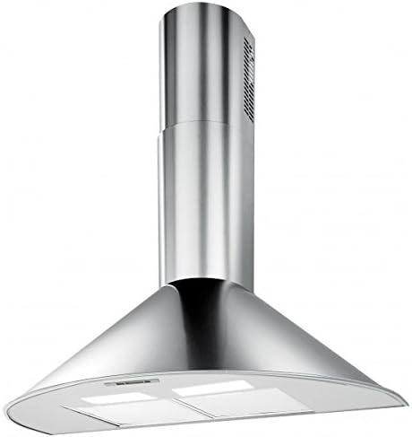 HBH – Campana extractora de cocina Design Inox 60 cm 600 M3/H chimenea extensible: Amazon.es: Hogar