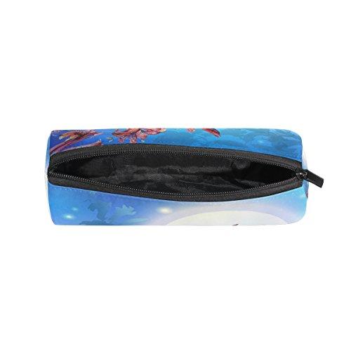 Kolibri Blumen Federmäppchen Pen Tasche Multifunktions Stationery Tasche Reißverschluss Tasche von bennigiry, Student Reißverschluss Bleistift Inhaber Tasche Geschenk Travel Make-up Tasche