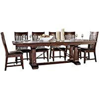 Intercon Hayden Rough Sawn & Rustic Espresso 9-piece Dining Set