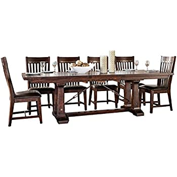 Intercon Hayden Rough Sawn & Espresso 7-piece Dining Set