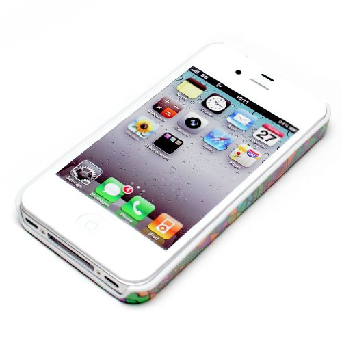 deinPhone Apple iPhone 4 4S HARDCASE Hülle Case Zick Zack Muster Megabunt