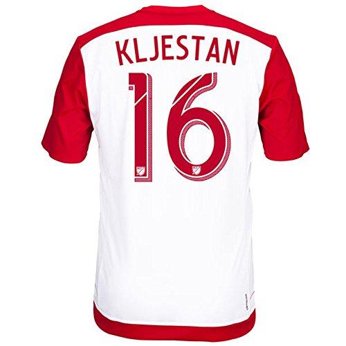 小麦粉涙計り知れないAdidas KLJESTAN #16 New York Red Bulls Home Jersey 2016 (Authentic name & number) / サッカーユニフォーム ニューヨーク?レッドブルズ ホーム用 クリエスタン
