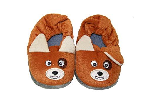 Toddler Baby Boy Girls Sherpa Stuffed Animal Fur Non Slip Indoor Bootie Slippers (SLT) (Slt-1210)-tan bdMahyDH