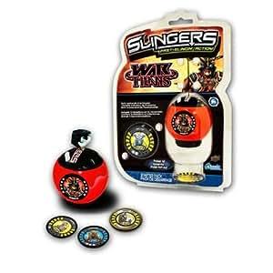 Upper Deck 202013R1 Slingers War Titans - Set básico de batalla (incluye 1 lanzadores y 3 medallones), modelos surtidos [importado de Alemania]