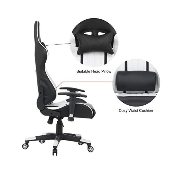 Chaise Gaming Inclinable avec Repose-Pied, Fauteuil de Bureau Gamer, Fauteuil Gaming Ergonomique, avec Appui-tête et…