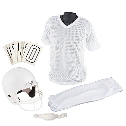 Franklin Sports Youth Football Uniform Set, Medium, White (Football Set Uniform Adult)
