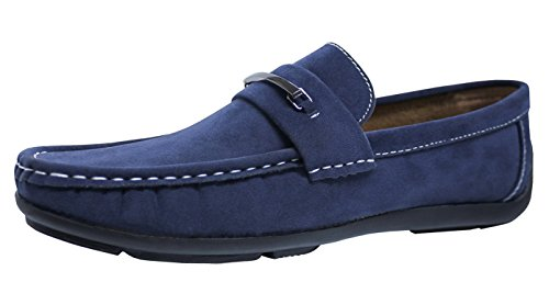 eleganti mocassini blu casual camoscio man's uomo shoes Evoga Scarpe gFw5qYw4
