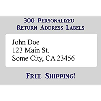 amazon com 300 large printed personalized return address labels 1