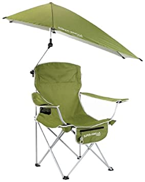 sklz superbrella chair green silla plegable con sombrilla de acampada y senderismo color azul
