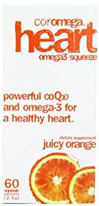 Coromega Healthy Heart, Juicy Orange  60-Count 2.5 g Packets