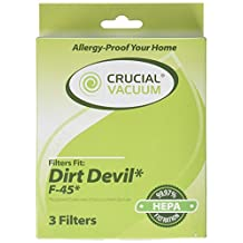 Crucial Vacuum 1 Dirt Devil F45 HEPA Canister, Foam and Exhaust Filter Fits