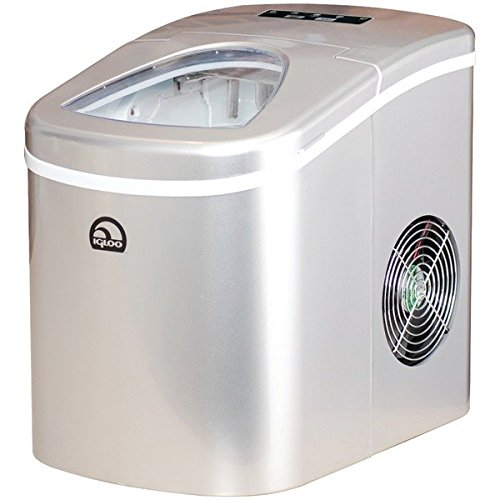 Igloo EKU-ROG-WHT ICE108-SILVER Compact Ice Maker