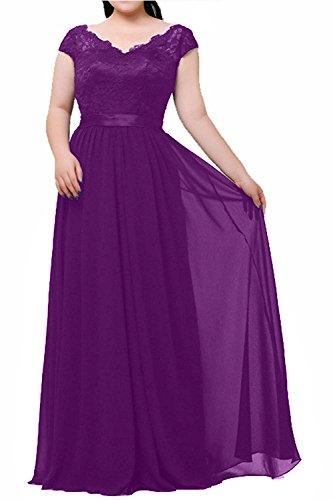 Formalkleider La Violett Neu Partykleider mia Festlichkleider Brau Brautmutterkleider Elegant Spitze Ballkleider Langes Abendkleider 4vUqa4x