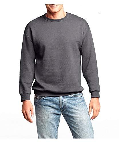Hanes Men's Premium Fleece Sweatshirt with Fresh IQ (Slate Heather, X-Large)