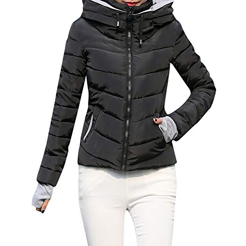 GOVOW Winter Jackets for Women Thick Outerwear Hooded Coat Short Slim Cotton-Padded Coats – DiZiSports Store