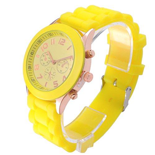 OFTEN Popular Silicone Rubber Jelly Gel Quartz Analog Watch for Men Women Girl Boy Kids Students Nurse Unisex Sports Leisure Wrist Watch ()