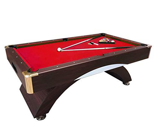 Mesa de billar juegos de billar pool 7 ft NAPOLEONE ROJO Carambola Medicion de 188 x 94 cm Nuevo Embalado Disponible