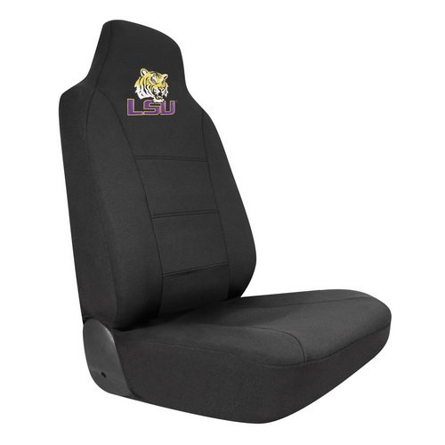 Car Seat Covers, Collegiate Logo Auto Seat Cover Fits Universally For Ford Nissan Toyota Honda GMC (LSU Tigers)