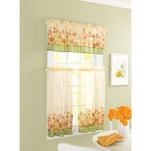 Elegant Amazon.com: Curtain Closeout Sunflower Kitchen Window Tiers, 56 By 24 Inch,  Multicolor: Home U0026 Kitchen