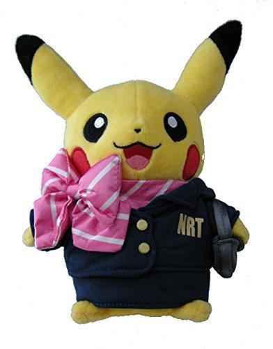 stuffed-flight-attendant-pikachu-pokemon-center-tokyo-narita-airport-limited