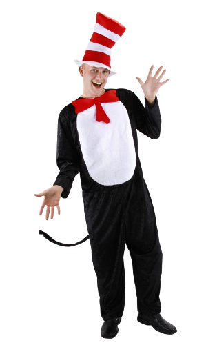 elope Dr. Seuss Cat in the Hat Costume for Adults S/M ()