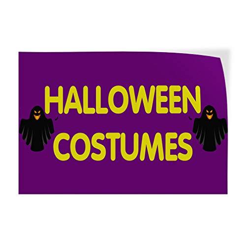 Halloween Costumes #1 Indoor Store Sign Vinyl Decal