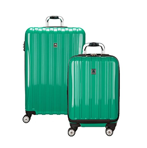 Delsey Luggage Aero Hardside Carry on and Check in, Emerald Green