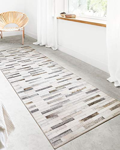 Loloi II Maddox Collection AD-01 Faux Cowhide Patchwork Print Area Rug 2'-6