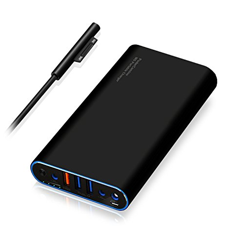 PoderCamino 98Wh Carry on MS Portable Charger Power Bank External Battery for Microsoft Surface Book Surface Laptop Surface Pro 6 5 4 3 2 RT USB QC Quick Charge Fast Charging tablet smartphone -SB2680 ()