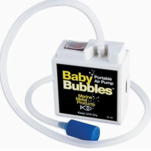 MARINE METAL BABY BUBBLE BOX AERATOR 3gal 2/AA (Bubble Box Aerator)