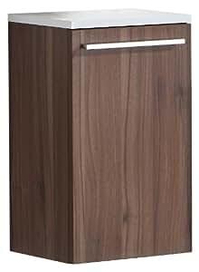Luxo Marbre Relax C35 W Relax Side Cabinet Walnut Bathroom Vanities
