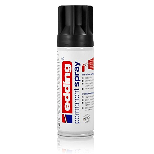 edding® permanent spray, seidenmatt Tiefschwarz