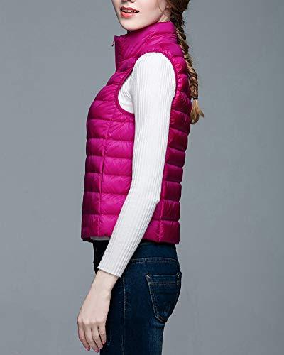 Ultralight Warmer Sans Doudoune Manches Femmes Body Rose Gilet Suncaya Rouge t0EPn