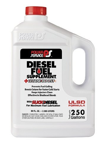 Power Service 1080-06 +Cetane Boost Diesel Fuel Supplement Anti-Freezer – 80 oz. (4)