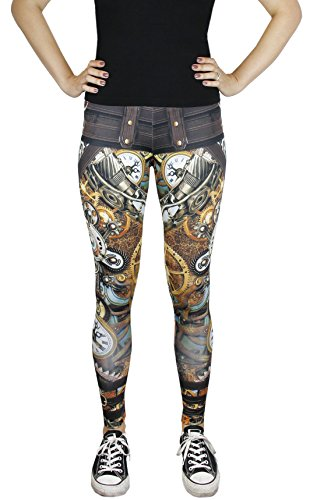 Cool Steampunk Costumes (Women's Steampunk Costume Accessory Pants Leggings - Size Medium)