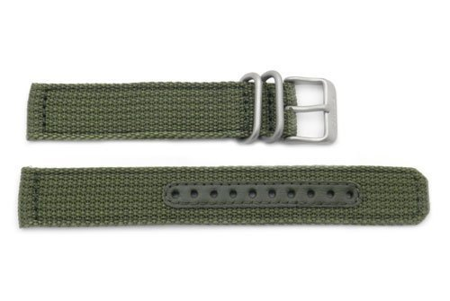 Seiko Military Automatic Olive Green Nylon 18mm Watch Strap (Seiko Mens Green)
