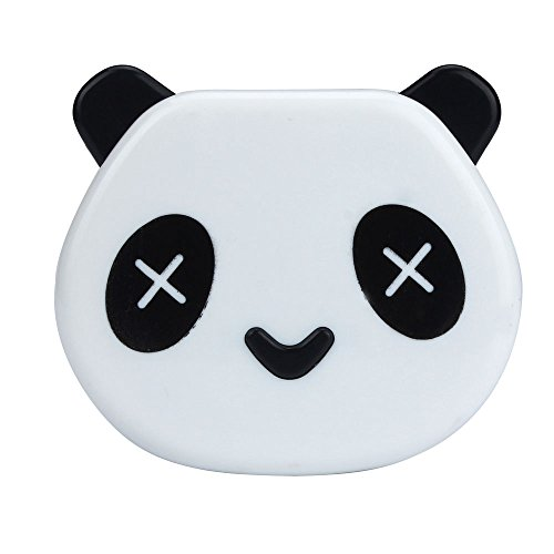 Doinshop Cartoon Panda Candy Color Contact Lens Case Travel Kits Mirror Box (white)