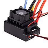 Professional RC Speed Controller, Brushless ESC 80A Sensored and Sensorless Adjustable for RC Car Truck Toys RC Accessory